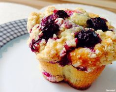 Blaubeer-Muffins mit Streuseln Sweet Cooking, Home Bakery, Dessert, French Toast, Cupcakes, Baking, Breakfast, Recipes, Food