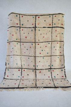 SELF-DELIGHTING SOUL 8'5 x 6' Boucherouite Rug. by pinkrugco