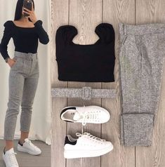 Casual Work Outfits, Simple Outfits, Classy Outfits, Stylish Outfits, Girls Fashion Clothes, Winter Fashion Outfits, Look Blazer, Fashion Illustration Dresses, Everyday Outfits