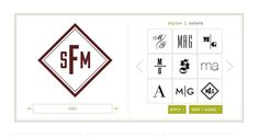 Create a Custom Monogram With These Free Monogram Generators: Free Monogram Generator at Mark and Graham