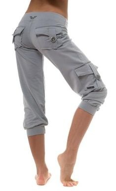 Want these for around the house and hanging with the kids at the park! Public Myth Fitness clothing Bamboo Pocket Capri by Maja Mladenovic