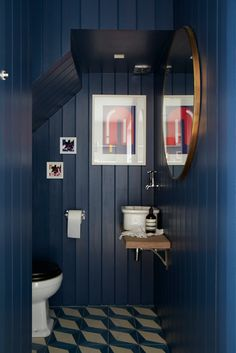 Beautiful colours and cladding in bathroom