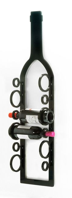 Wall Mounted Wine Rack // Acrylic Wine Rack // SOB by SOBweb