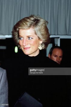 Diana, Princess of Wales, during her official visit to France on November 8, 1988 in Paris, France.