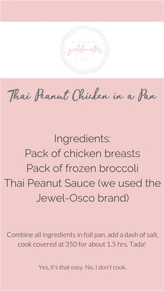 """""""Alyssa Attempts"""" is a series of easy recipes that all qualify under """"If I can do it, YOU can too!"""" Thai Peanut Chicken was a crowd pleaser! Thai Peanut Chicken, Thai Peanut Sauce, Kids And Parenting, Parenting Hacks, Easy Recipes, Easy Meals, Work From Home Tips, Mom Fashion, I Can Do It"""