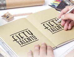 "Check out new work on my @Behance portfolio: ""Logo Fifty Talents"" http://on.be.net/1KedgVe"