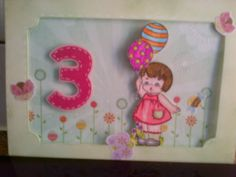 Third Birthday card for my niece Ava.