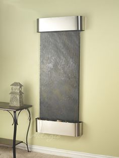An interior waterfall fountain is great for the home and defines peace and tranquility. Has anyone ever told you putting an artistic water fountain inside of your partner's home can create a better living environment? This is the truth.www.waterfeaturesupply.com/waterwalls/indoor-wall-water-fountains.html