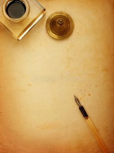 Fountain pen and old paper. Fountain pen and inkwell and old paper , Old Paper Background, Artsy Background, Light Background Images, Flower Background Wallpaper, Background Vintage, Google Pixel Wallpaper, Images Wallpaper, Ancient Paper, Quill And Ink