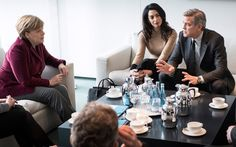 """George Clooney: U.S. Not Taking in Enough Syrian Refugees, We Need to 'Do More,' Backs Angela Merkel's 'Open-Door' Refugee Policy. Clooney, the self-appointed """"statesman"""" of the moron capital of the world, has embarked on a campaign to bring a flood of hostile invaders to our shores — more, much more than the obscene number Obama has already promised."""