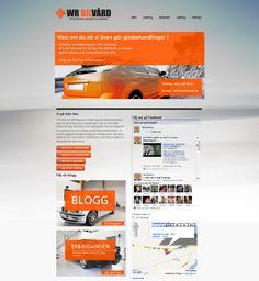 Wr bilvård , Logo & webdesign