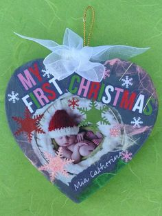 Personalized Baby First Christmas Ornament by OurLovelyBranches