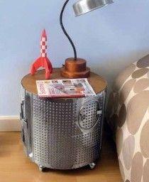Une table basse pour mailys avec un tambour de machine - Tambour machine a laver prix ...