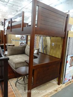 Awesome loft bed from Costco Bunk bed with desk, Kids