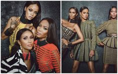 Welcome To Chris biz-Blog: Spread: Rihanna, Iman, Olivier Rousteing And Naomi...