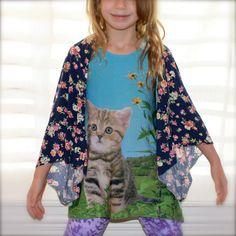 $17.00 Kids Kimono Floral Kimono Toddler Kimono Gift by MickeyandChicken
