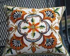 Vintage Jacobean Crewel Dream Pillow