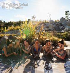 #NZMustDo; Rotorua's grey geothermal mud is believed to have therapeutic properties that helps in skin care while soothing tired muscles. Soak in the warm outdoor mud pools while in New Zealand