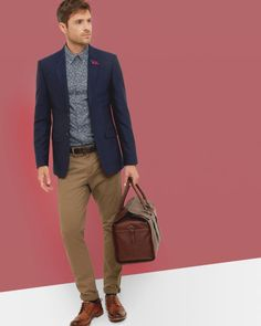 Men's Designer Clothing & Fashion Ted Baker is part of Jeans blazer outfit - Discover the latest men's designer clothing at Ted Baker Shop men's British fashion from luxury bags, shirts, tops, trousers and Blazer Jeans, Blue Blazer Outfit Men, Blazer Bleu, Navy Blazer Men, Blazer Outfits Men, Mens Fashion Blazer, Mens Casual Suits, Grey Suit Men, Blazers For Men
