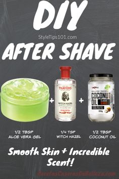 DIY After Shave : Looking for an all natural after shave lotion? Look no further than this DIY after shave lotion made entirely out of all natural, soothing ingredients! This DIY after shave lotion not is not only for men.after shave bumps bikinis Natural Hair Mask, Natural Skin Care, Natural Hair Styles, Natural Beauty, Beauty Care, Diy Beauty, Beauty Skin, Homemade Beauty, Beauty Ideas