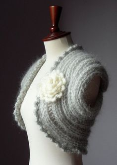 GIOIA Knitted Shrug LUX Version by Silvia66 on Etsy.