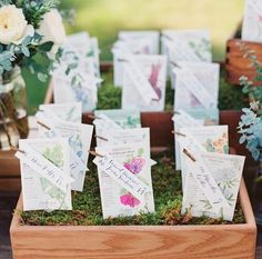 This couple, avid gardeners, added calligraphed tags from Laura Hooper Calligraphyto seed packets, which doubled as escort cards and wedding favors. Alcohol Wedding Favors, Disney Wedding Favors, Plant Wedding Favors, Indian Wedding Favors, Wedding Favours Luxury, Vintage Wedding Favors, Winter Wedding Favors, Wedding Favors For Guests, Wedding Ideas