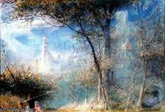 Merano, Italie du Nord de Albert Goodwin (1845-1932, United Kingdom)