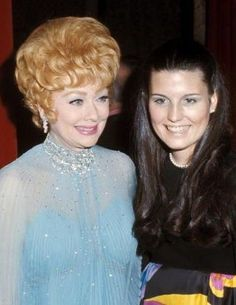 Lucille Ball with her daughter, Lucie Arnaz
