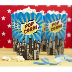 Popcorn boxes Superhero Theme | Life's Little CelebrationsLife's Little Celebrations