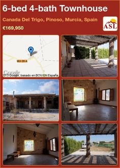 Townhouse for Sale in Canada Del Trigo, Pinoso, Murcia, Spain with 6 bedrooms, 4 bathrooms - A Spanish Life Murcia Spain, Central Heating, Restaurant Bar, Cosy, Townhouse, Pergola, Cottage, Canada, Outdoor Structures