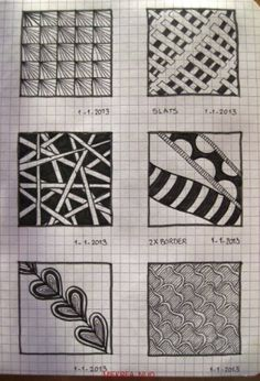 16 Patterns drawn by Miekrea NL -  designed by Others