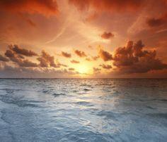 SUNSET WARM SEA VIEW CLIFFS LANDSCAPE WALL ART CANVAS PICTURE PRINTS