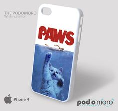 Funny Parody Paws for iPhone 4/4S, iPhone 5/5S, iPhone 5c, iPhone 6, iPhone 6 Plus, iPod 4, iPod 5, Samsung Galaxy S3, Galaxy S4, Galaxy S5, Galaxy S6, Samsung Galaxy Note 3, Galaxy Note 4, Phone Case