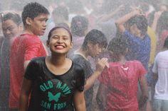 Pinoys get wet for annual religious feast, Wattah Wattah Festival in San Juan City, Manila #celebrate #festival