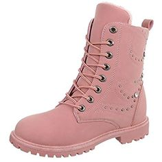 para de Ital Zapatos cordones Botas ancho Design mujer Tacón Botines xYYOqp
