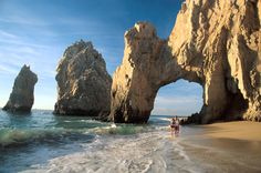 Mexico - The Arch of Cabo San Lucas is a rock formation in the extreme south of Cabo San Lucas, which is also the southern tip of the Baja California Peninsula.  01