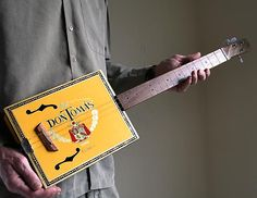 Cigar Box Guitar No. 54 Don Tomas Acoustic Electric Combination 3 String Guitar - Ready to Ship Diy Christmas Gifts For Men, Guitar Amp, Guitar Pics, The Music Man, Wood Carving Tools, Cigar Box Guitar, Diy For Men, Man Images, Guitars