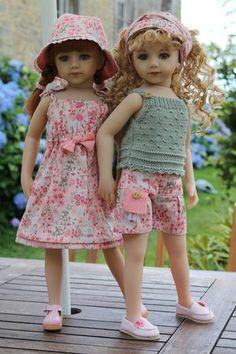 rose 048 Savannah et Jamie habillées par Vaniline
