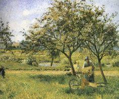 The Wheelbarrow - Camille Pissarro