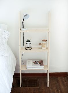 Skip the trip to IKEA and make your own ladder shelf instead.