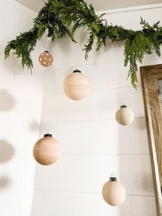 This was such fun and simple DIY. Very budget friendly. Less then $15 Shiny Brite Ornaments, Clear Ornaments, Christmas Angels, Christmas Ornaments, Christmas Decorations, Holiday Decorating, Christmas Crafts, Shades Of Brown Paint, Coffee Table Upcycle