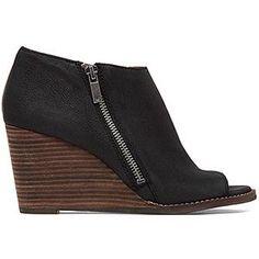 Lucky Brand 'Jaspah' Peep Toe Wedge Bootie (Women) | Nordstrom