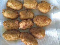 Croquetas de bacalao con patatas