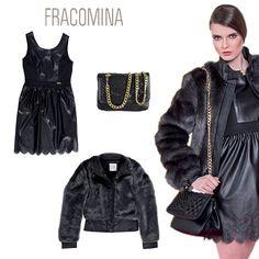 Total #black is always a good idea! Fake fur→http://goo.gl/B1jryi Dress→http://goo.gl/7ck5CM Bag→ http://goo.gl/P58ehs