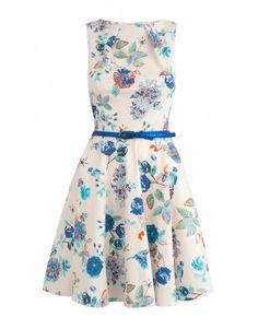 Closet Bloomsbury Floral Print Flare Dress