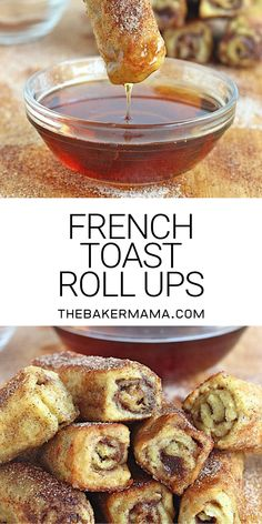 Easy to make and fun to eat, these delicious french toast roll ups are a creative breakfast treat for any day of the week! Easy to make and fun to eat, these delicious french toast roll ups are a creative breakfast treat for any day of the week! Sweet Breakfast, Breakfast Dishes, French Breakfast Foods, Simple Breakfast Recipes, Yummy Breakfast Ideas, Easy To Make Breakfast, Country Breakfast, Mexican Breakfast, Easy Eat