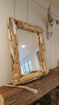 whitewashed driftwood mirror | Mirrors | Pinterest | Driftwood and ...