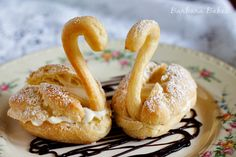 Cream Puff Swans Recipe | Pretty, golden puff pastry swans filled with rich, creamy pastry cream ...
