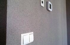Spachtelputz in kleur op de muren