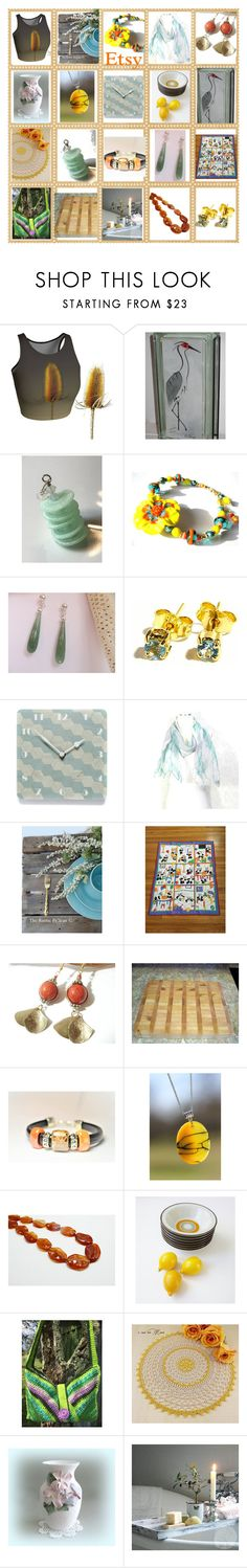 """""""ETSY Smorgasbord"""" by belladonnasjoy ❤ liked on Polyvore featuring Rustico, Cultura, Giallo and vintage"""